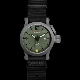 Grey Hyper Green-Black mit schwarzem Neoprenarmband
