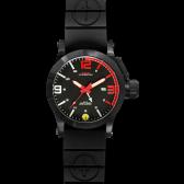 Black Hyper Red mit Taucherarmband