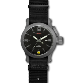Grey Hyper Gray mit schwarzem Neoprenarmband