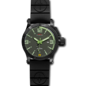 Black Hyper Green-Lumi mit Taucherarmband