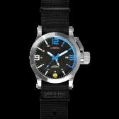 Silver Hyper Blue mit schwarzem Neoprenarmband