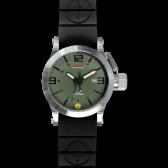 Silver Hyper Green-Black mit Taucherarmband